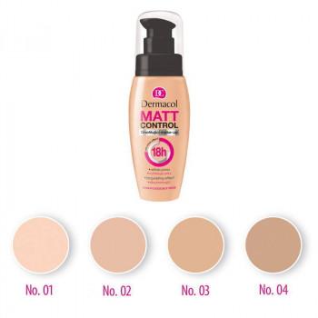 Dermacol Make-Up Матирующий тональный крем с водостойким покрытием Matt Control 18H