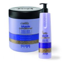 Echosline Аргановый кондиционер для осветленных волос с платиной Seliar Blond