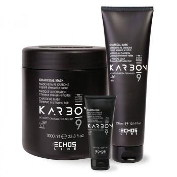 Echosline Маска для поврежденных волос с активированным углем Karbon 9 Charcoal Mask