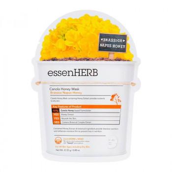 essenHERB Питательная тканевая маска для сухой чувствительной кожи Canola Honey Mask