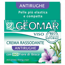Geomar Укрепляющий крем для лица против морщин с органическими цветами гибискуса и океаническими водорослями Face