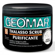 Geomar Очищающий скраб для тела с черной солью и древесным углем Body Thalasso