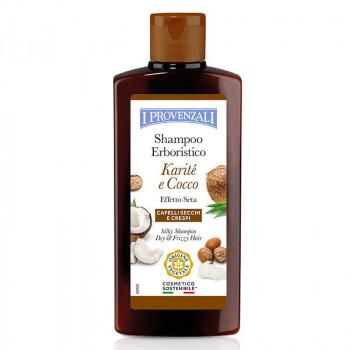 I Provenzali Шелковый шампунь для сухих и кучерявых волос с маслом карите и кокоса Karite&Cocco