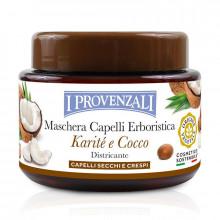 I Provenzali Шелковая маска для сухих и кучерявых волос с маслом карите и кокоса Karite&Cocco