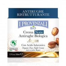 I Provenzali Восстанавливающий ночной крем для сухой и зрелой кожи лица с аргановым маслом и гиалуроновой кислотой Argan