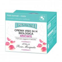 I Provenzali Органический увлажняющий крем для нормальной и комбинированной кожи лица с маслом розы 24ч Rosa Mosqueta