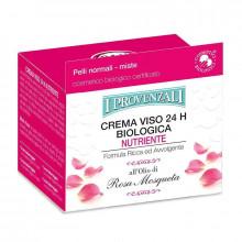 I Provenzali Органический питательный крем для нормальной и комбинированной кожи лица с маслом розы 24ч Rosa Mosqueta