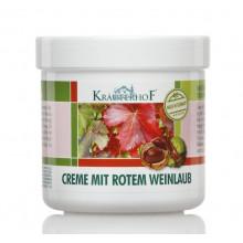 Krauterhof Крем для ног с экстрактом листьев красного винограда