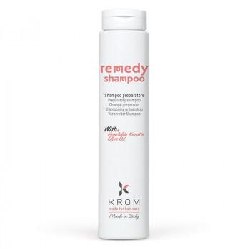 Krom Шампунь восстанавливающий с растительным кератином и маслом оливы Remedy