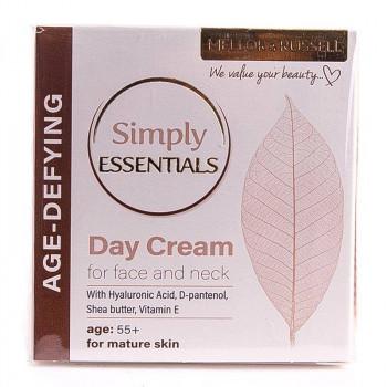 Mellor & Russell Simply Essentials Дневной крем для зрелой кожи лица и шеи с гиалуроновой кислотой Age Defying