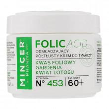 Mincer Pharma Универсальный полужирный крем для лица с гарденией и лотосом №453 60+ Folic Acid
