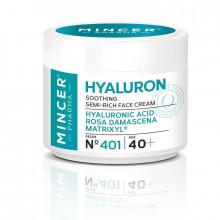 "Mincer Pharma Успокаивающий крем для лица ""Дамасская роза"" №401 Hyaluron"