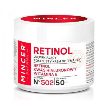 Mincer Pharma Полужирный укрепляющий крем для лица повышающий упругость кожи 50+ №502 Retinol
