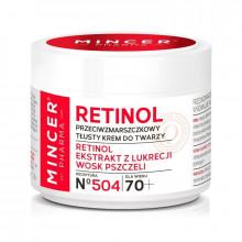 Mincer Pharma Жирный крем для лица против морщин 70+ №504 Retinol