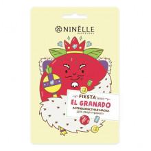 "Ninelle Barcelona Антивозрастная тканевая маска для лица ""Гранат"" Fiesta"