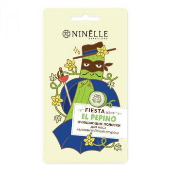 "Ninelle Barcelona Очищающие полоски для носа ""Аликантийский огурец"" Fiesta"