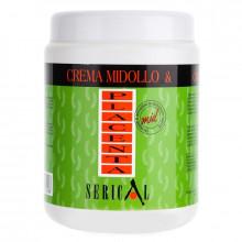 Pettenon Крем-маска для волос с вытяжкой бамбука и плаценты пшеницы Serical