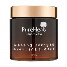 PureHeal's Энергизирующая ночная маска для лица с экстрактом ягод женьшеня