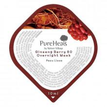 PureHeal's Энергизирующая ночная маска для лица с экстрактом ягод женьшеня (саше)