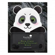 PureHeal's Тканевая маска для лица с черным углем для очищения пор от загрязнений