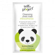 Selfie Project Очищающая маска для лица Brava Panda (тканевая)