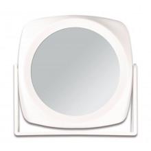 Titania Зеркало косметическое, белое, двухстороннее, 18*18 см