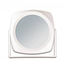 Titania Зеркало косметическое, белое, двухстороннее, 15*15 см