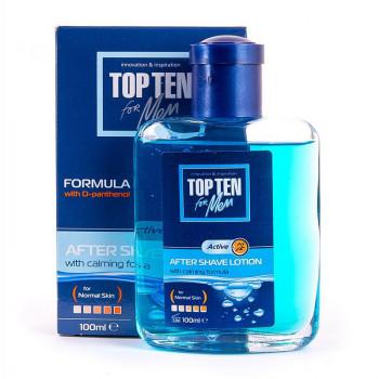 Top Ten for men Лосьон после бритья для нормальной кожи с D-пантенолом Active