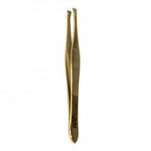 Zauber Пинцет для бровей, золотой, Т-361